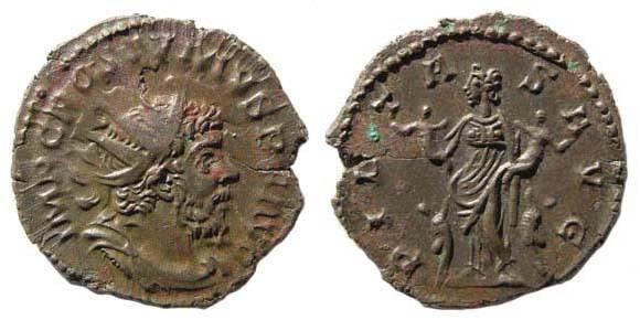 Ancient Coins - Postumus, Antoninianus, interesting type