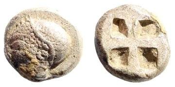 Ancient Coins - Ionia, Phokaia. Circa 525-500 BC. AR Phokaic standard Hemihekta  (1.38 gm, 9mm). SNG von Aulock 1813; SNG Kayan 522