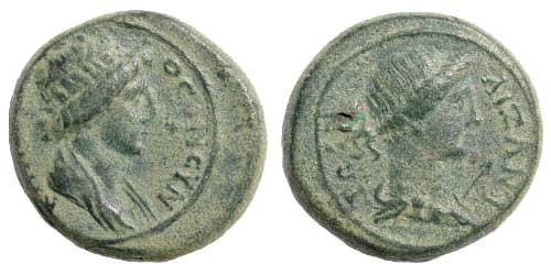 Ancient Coins - Phrygia, Aezani. Time of Claudius I, ca. 41-54 AD. AE 18mm (3.82 gm). RPC 3106