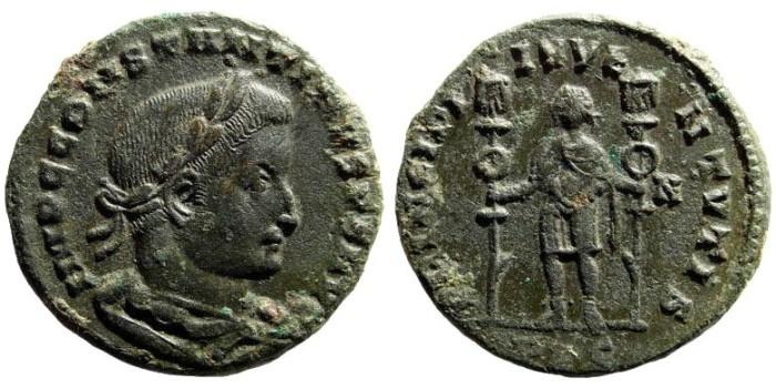 Ancient Coins - Constantine I, the Great, 307-337 AD. AE Follis (6.40 gm, 25mm). Lugdunum mint (Lyons), 307 AD. RIC 245