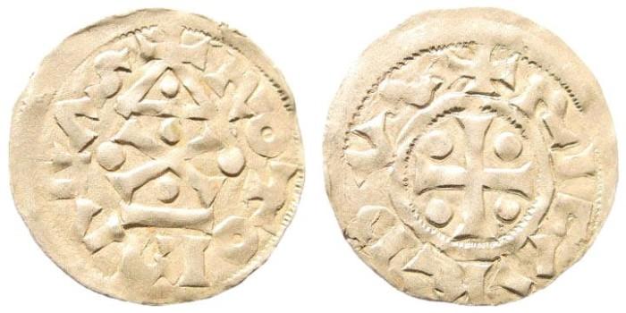 Ancient Coins - France, Normandy, Rouen. Richard I, 943 - 996. AR Denier (1.03 gm, 20mm). Legros, 192
