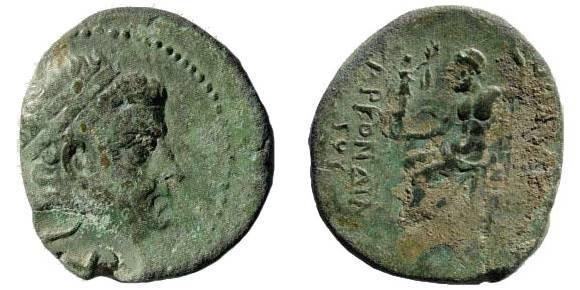 Ancient Coins - Cilician Kings, Tarkondimotos ca. 39-31 BC, AE 22 (7.33 gm). Sear 5682; SNG Levante 1258 (same countermark)