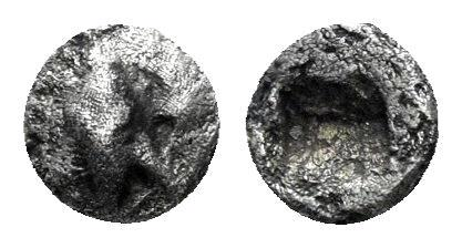 Ancient Coins - Ionia, Ephesos. Circa 550-500 BC. AR Hemitetartemorion (0.14 gm, 4mm). Karwiese Series III; #1-3. Rare