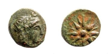 Ancient Coins - Mysia, Gambrion. After 350 BC. AE10mm (1.03 gm). SNG Copenhagen 150-152