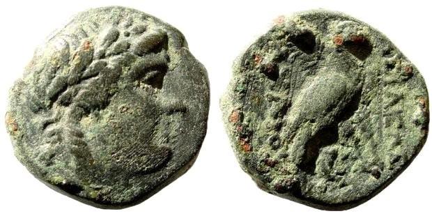 Ancient Coins - Seleucid Kingdom. Achaios, usurpator in Asia Minor. 220-214 BC. AE 17mm (5.88 gm). Sardeis mint. Newell, WSM 268