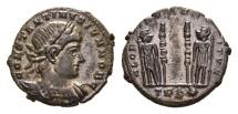 Ancient Coins - Constantine II, as Caesar, 317-337 AD. AE Follis (2.86 gm, 18mm). Treveri (Trier) mint. Struck 330-335 AD. LRBC 68