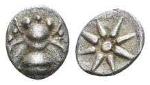 Ancient Coins - Ionia, Ephesos. Circa 500-420 B.C. AR 1/48th stater (0.32 gm, 7mm). SNG Kayhan 135