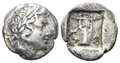 Ancient Coins - Lykian League. Circa 48-42 BC. AR Hemidrachm (1.62 gm, 15mm). Masikytes mint. Troxell Period IV, Series 1, 87