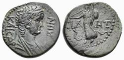 Ancient Coins - Pamphylia, Side. Nero. 54-68 AD. AE 17mm (3.29 gm) Circa 55 AD. RPC I 3401
