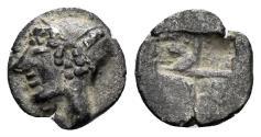Ancient Coins - Ionia, Phokaia. Late 6th Century BC. AR Obol (0.58 gm, 9mm). Rare denomination