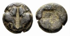 Ancient Coins - Lesbos, unattributed early mint. Circa 500-450 BC. BI 1/24 Stater (0.61 gm, 5mm). Cf. HGC 6, 1071