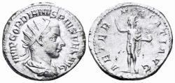 Ancient Coins - Gordian III. 238-244 AD. AR Antoninianus (4.22 gm, 22mm). Rome mint. RIC IV 83; RSC 41