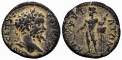 Ancient Coins - Arcadia, Caphyae. Septimius Severus. AE 22mm (7.53 gm). BMC Peloponnesus pg. 178, 2. Extremely rare city