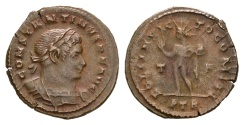 Ancient Coins - Constantine I. 307/310-337 AD. AE Follis (4.22 gm, 23mm). Treveri (Trier) mint, 1st officina. Struck 310-313 AD. RIC VI 873