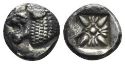 Ancient Coins - Ionia, Miletos. Late 6th- early 4th century BC. AR 1/12th Stater (1.12 gm, 9mm). SNG Helsinki II 277