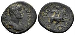 Ancient Coins - Pisidia. Baris. Hadrian, 117-138 AD. AE Hemiassarion (3.90 gm, 20mm). RPC III 2776
