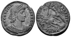 Ancient Coins - Constantius II. 337-361 AD. AE Centenionalis (4.97 gm, 23mm). Nicomedia mint, 351-355 AD. RIC 84; LRBC 2300