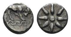 Ancient Coins - Ionia, Magnesia. Circa 400-350 BC. AR 7mm (0.31 gm, 5mm). SNG Kayan 397