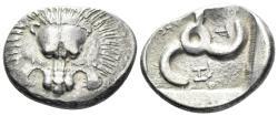 Ancient Coins - Lycia, Trbbenimi. Circa 400 BC. AR Stater (9.67 gm, 25mm). Zemu (Limyra) mint. Cf. SNG von Aulock 4227 (same obverse die)