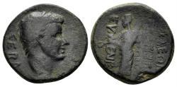 Ancient Coins - Phrygia, Eumeneia. Tiberius. 14-37 AD. AE 18mm (4.41 gm). RPC I 3147