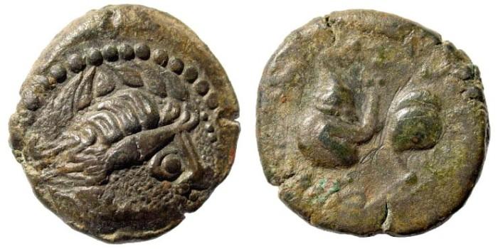 Ancient Coins - Eastern Celts. Kapostal-Type. 2nd century BC. Billon Tetradrachm (9.11 gm, 22mm). Göbl, OTA 484