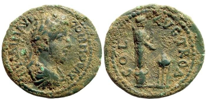 Ancient Coins - Troas, Alexandreia. Commodus, 180-192 AD. AE 23mm (4.47 gm). Bellinger Troy, A191
