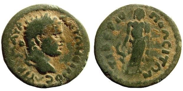 Ancient Coins - Phrygia, Tiberiopolis. Caracalla. 198-217 AD. AE 20mm (3.29 gm). SNG Copenhagen 757 (same dies)