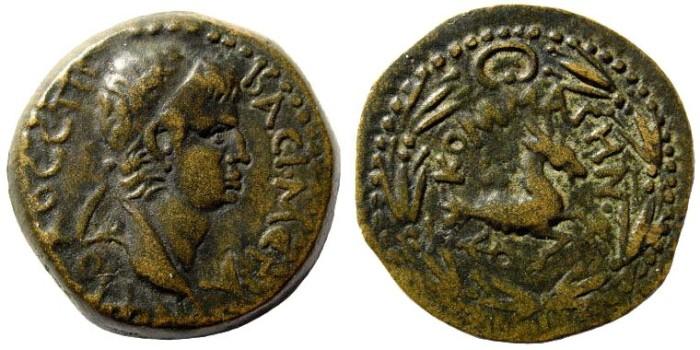 Ancient Coins - Kommagenian Kingdom. Antiochus IV, 38-72 AD. AE 23mm (7.21 gm). RPC I, 573, 3855. BMC 107, 11