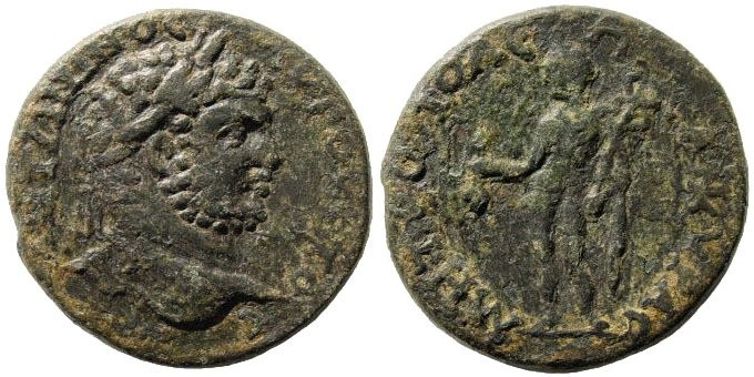 Ancient Coins - Galatia, Ankyra. Caracalla. 197 – 217 AD. AE 29mm (17.21 gm). Apparently unpublished