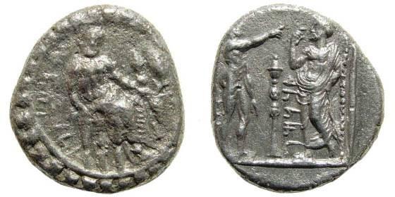 Ancient Coins - Cilicia, Tarsos. Datames, Satrap of Cilicia and Cappadocia. 384-361/0 BC. AR Stater (10.03 gm, 28mm). Struck circa 369/8-361/0 BC