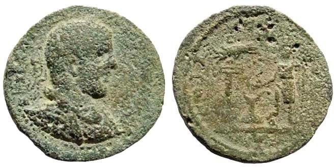 Ancient Coins - Judaea, Aelia Capitolina (Jerusalem). Elagabalus, 218-222 AD. AE 24mm (9.28 gm). Meshorer, Aelia Capitolina 129c