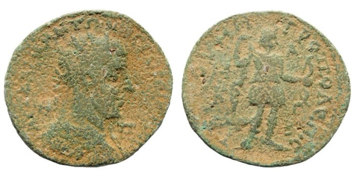 Ancient Coins - Cilicia, Tarsus. Gordian III. 238-244 AD. AE 35mm (22.87 gm). SNG France 2, 1665 (same dies)