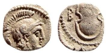 Ancient Coins - Cilicia, Tarsos. Balakros. 333-323 BC. AR Obol (0.60 gm, 10mm). SNG BN Paris 123