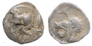 Ancient Coins - Mysia, Kyzikos, ca. 510-475 BC, AR (0.40 gm.). SNG France 375