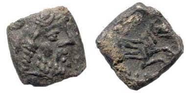 Ancient Coins - Cilicia uncertain, 4th century BC, AR Obol (0.57 gm). Klein 652; SNG von Aulock 8656; SNG Copenhagen 319