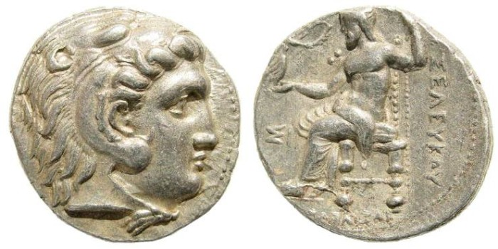 Ancient Coins - Seleukid Kings. Seleukos I Nikator. 312-281 BC. AR Tetradrachm (17.09 gm, 26mm, 9h). Seleukeia I mint. Struck in circa 300-281 BC. SC 119.6a