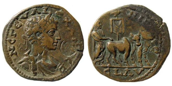 Ancient Coins - Cilicia, Ninica-Claudiopolis. Severus Alexander. 222-235 AD. AE 28mm (11.31 gm). SNG Levante 619; for countermark: Howgego - and 669