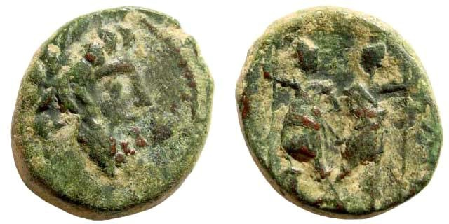 Ancient Coins - Syria, Coele-Syria. Chalkis. Ptolemaios, tetrarch. Year 240 (73/72 BC). AE 20mm (6.84 gm). SNG Copenhagen 413