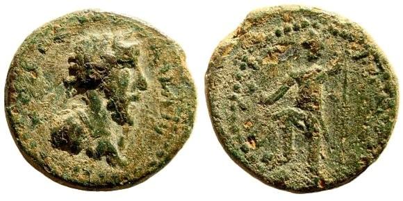 Ancient Coins - Samaria, Neapolis. Commodus, 177-192 AD. AE 20mm (4.60 gm). SNG ANS 983