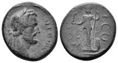 Ancient Coins - Lycaonia, Iconium. Antoninus Pius. 138-161 AD. AE 20mm (5.43 gm). Cf. von Aulock, Lykaioniens 301-7 (obv. legend)