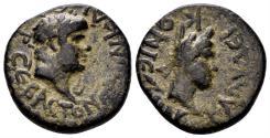 Ancient Coins - Lykaonia. Eikonion. Nero. 54-68 AD. AE 20mm (5.70 gm). SNG BN Paris 2281