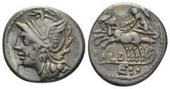 Ancient Coins - C. Coelius Caldus. 104 BC. AR Denarius (3.94 gm, 18mm). Rome mint. Crawford 318/1b