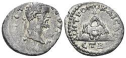 Ancient Coins - Cappadocia, Caesarea-Eusebia. Septimius Severus. 193-211 AD. AR Drachm (2.96 gm, 19mm). Dated RY 2 (193/4 AD). Sydenham, Caesarea 388