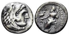 Ancient Coins - Macedonian Kindom. Philip III Arrhidaios. 323-317 BC. AR Drachm (3.94 gm, 17mm). Sardes mint. Price P70