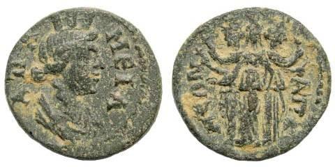 Ancient Coins - Phrygia, Apameia. 3rd century AD. AE 16mm (2.33 gm). BMC 88, 110. SNG von Aulock 3475. SNG München 131