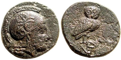 Ancient Coins - Aiolis, Neonteichos. 2nd century BC. AE 11mm (1.31 gm). SNG von Aulock 1670; SNG München 599; SNG Copenhagen 244. Rare