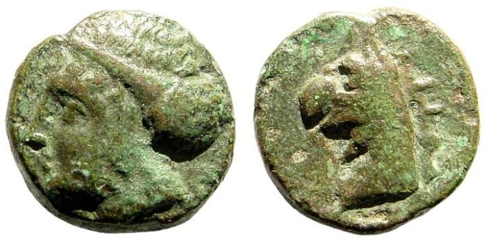 Ancient Coins - Ionia Phokaia. Circa 350-300 BC. AE 11mm (1.98 gm). Klein 455; SNG von Aulock 2135; SNG Tübingen 3121