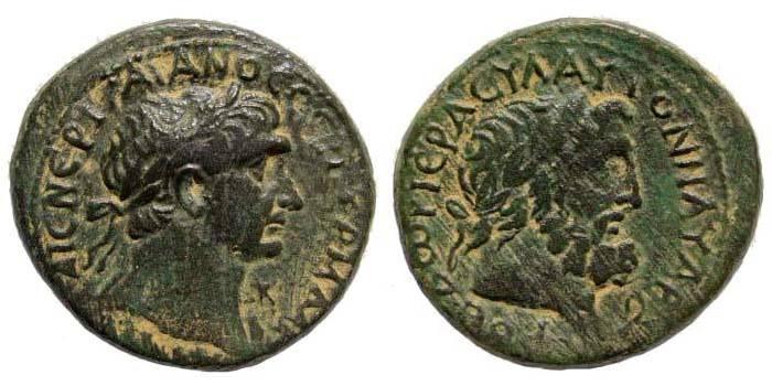 Ancient Coins - Phoenicia, Dora. Trajan, 98-117 AD. AE 24 mm (15.48 gm, 27.60 mm). Year 111/ 112. BMC pg. 117, 30