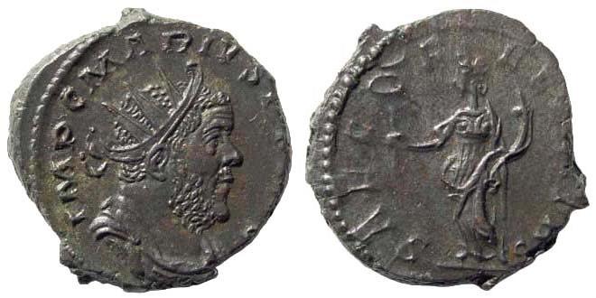 Ancient Coins - Marius, 269 AD. AE Antoninianus (3.89 gm, 19mm). Cologne (Köln) mint. RIC V/2, 377, 10. C. 13