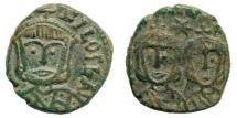 Ancient Coins - Theophilus, with Michael II & Constantine, 829-842. AE Follis (2.77 gm, 16mm). Syracuse mint. Sear 1680